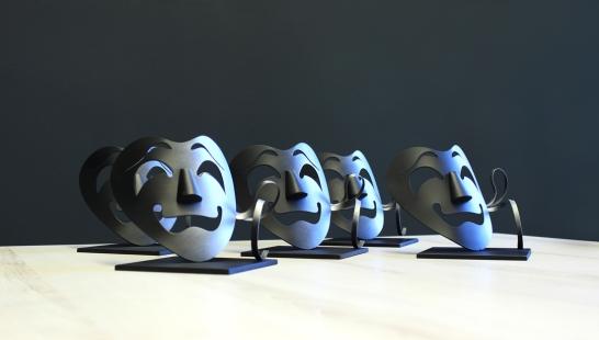 Teatr - Maski - Rzeźby i nagrody okolicznościowe