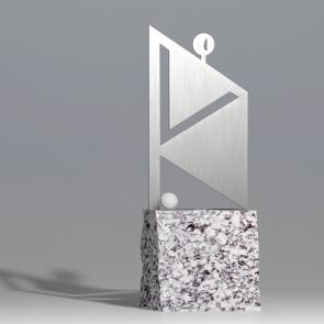 Golf Trophy - Golfer in square 1 - Nagrody - MIW Design