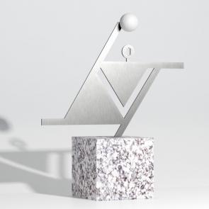 Statuetka na zawody z piłki ręcznej - Piłka ręczna w kwadracie - Nagrody - MIW Design